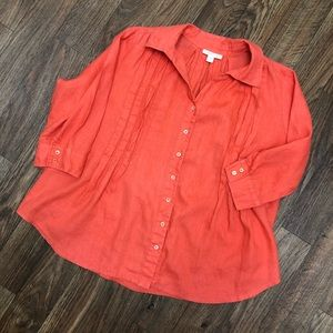 Tops - Coldwater Creek EUC Linen top, XLG